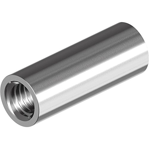 L/änge: 20 mm SC-Normteile 1 St/ück M8x20 - - SC9178 Rundmuffe - Edelstahl A2 V2A - Gewindemuffe in Runder-Ausf/ührung