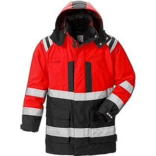 Fristads Kansas 119628 High Viz Airtech Winter Parka Hi-Vis Red/Black XL