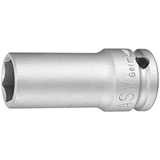 ASW 72068 Long Impact Socket, Silver, 1/2-Inch Hex 21 mm