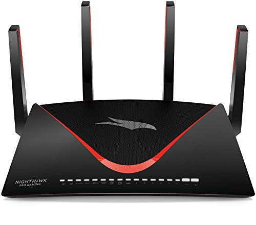 NETGEAR Nighthawk Gaming WLAN Router XR700 Pro (802.11 AD Quad-Stream, 1,7 GHz Quad Core, 7x GB + 1x 10 Gigabit LAN, Anti-Buffer-Bloat, QoS, Bandbreitenmanagement, Geo-Filter, MU-MIMO, AD7200)