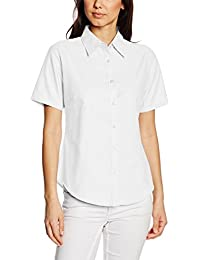 Fruit of the Loom Women's Oxford Short Sleeve Shirt