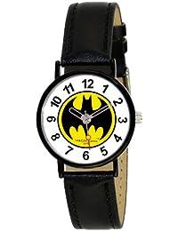 Batman BT11480-917 - Reloj analógico de cuarzo para niño, correa de cuero color negro