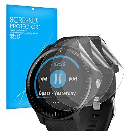 Olycism Kompatibel für Garmin Vivoactive 3 Music Schutzfolie(3 Stück) Ultra Dünn Transparenz [Hohe Empfindlichkeit, Anti-Kratzen, Anti-Bläschen] PET Film Komplettes Bildschirmschutz
