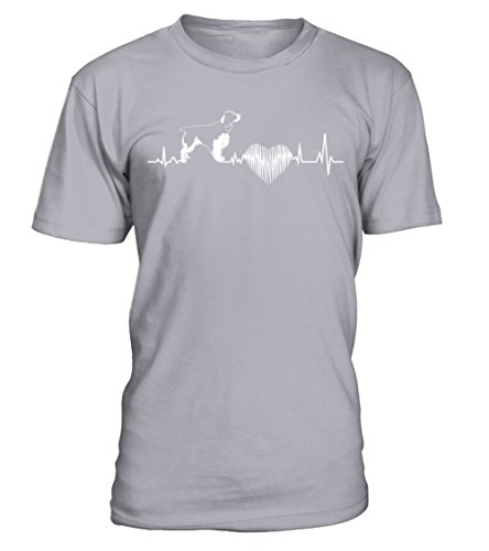 English Springer Spaniel Heartbeat, I Love My English Springer Spaniel - T-Shirt Round Neck Unisex