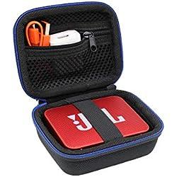 Portable Dur Voyage Cas Sac étui pour JBL GO/JBL GO 2 Enceinte Portable Bluetooth par GUBEE (Noir)