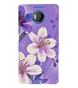 FUSON Card With Purple Flowers 3D Hard Polycarbonate Designer Back Case Cover for Microsoft Lumia 535 :: Microsoft Lumia 535 Dual SIM :: Nokia Lumia 535