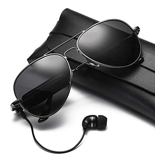 LFFSPORT Bluetooth Sonnenbrille Kopfhörer Stereo Musik Drahtlose Sonnenbrille Driving Glasses + Polarized Lenses,A