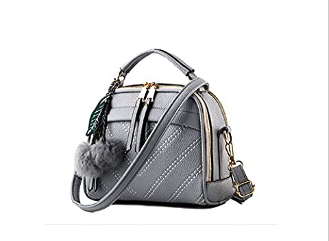 RETON Fashion PU Leather Handbag Designer Inspired Women Shoulder Bag (Light Gray)