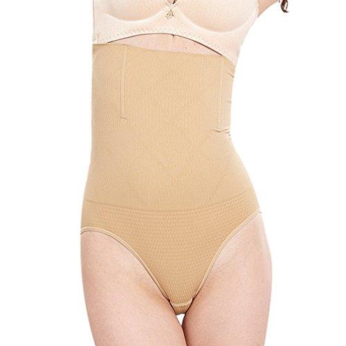 Heheja donna pancere mutande contenitivo alta vita shapewear controllo corsetto snellente mutandine intimo mutande skin m
