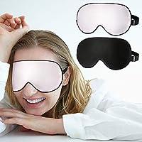 Schlafmaske, [2 Stück] Vegena 100% Seide Augenmaske Schlafbrille Hautfreundlich Weiche Nachtmaske Absolute Dunkelheit... preisvergleich bei billige-tabletten.eu