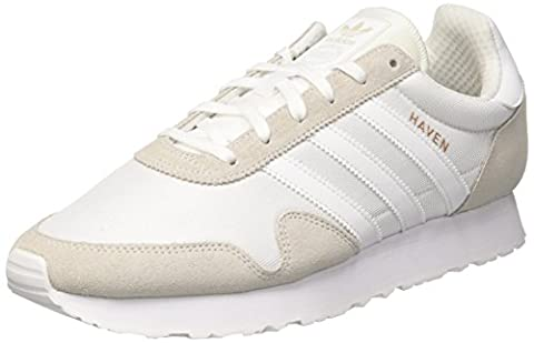 Adidas Men's Haven Low-Top Sneakers, White (Footwear White/Footwear White/Vintage White),