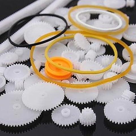 YUNIQUE ESPAGNE® 60 Piezas paquete Different Gear Engranajes para la robótica (kit de engranajes 60