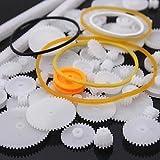 YUNIQUE ITALIA ® 60 Pezzi Gear Pulegge di Ricambio per robotica , droni , auto RC (kit 60pezzi)