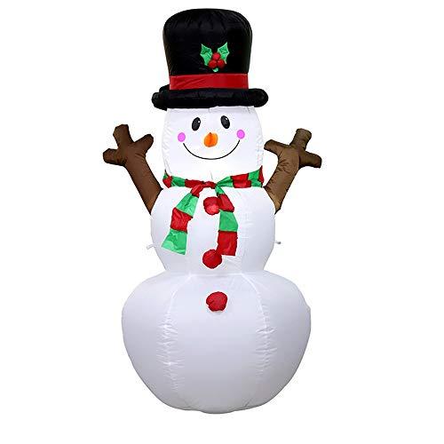 XSWE Weihnachtsgarten Dekoration Snowman Aufblasbares Modell, Outdoor Garten -