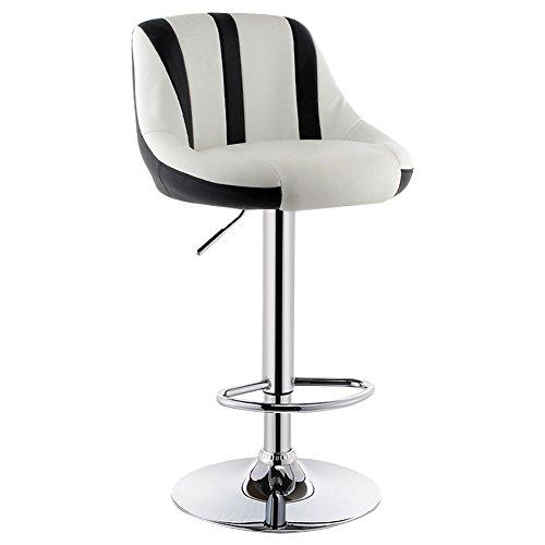 MENA Uk PU-Leder-Chefsessel, 360-Grad-Schwenker, weiche gepolsterte Stühle, maximale Belastbarkeit 120kg (Farbe : Black+White-1, größe : 38.5cm) - Nh Swivel