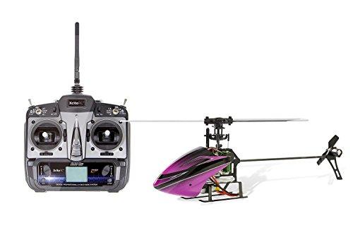 XciteRC 14004100 Flybarless 200 3D Single Blade V2.0-6-Kanal RTF Hubschrauber mit 6S Profi 6-Kanal Fernsteuerung
