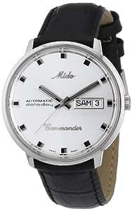Mido Herren-Armbanduhr XL Commander Analog Automatik Leder M841942141
