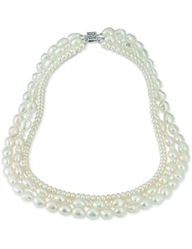 Adriana Damen Halskette 925 Sterling Silber rhodiniert Perlmutt Romantica M2