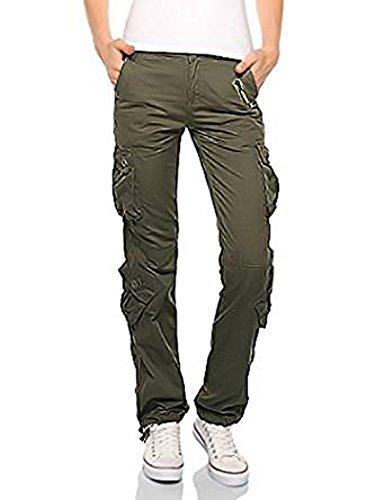 Private Label Damen Cargo Combat Hose Gr. 40, Olive-Green-Style -