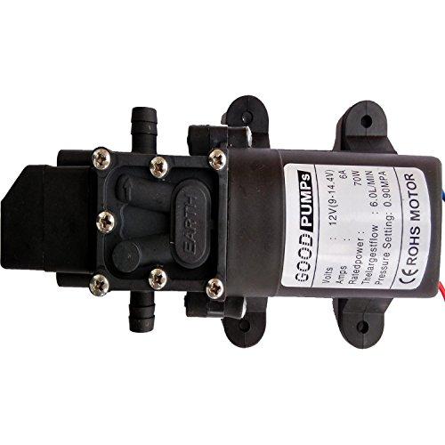 Preisvergleich Produktbild DC12V 131psi 6L/M Wasser High Druck Membran selbstansaugend Pumpe Caravan/Boot/Wohnmobil-/Garde