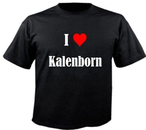 """T-Shirt """"I Love Kalenborn"""" für Damen Herren und Kinder ... in der Farben Schwarz Weiss und Pink Rosa Schwarz"""