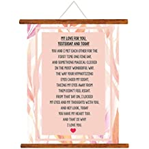 YaYa cafe Valentine Greeting Card Love Romantic for Girlfriend Wife Boyfriend Husband My Love for You Yesterday and Today Scroll Gift - 15 x 20 inches