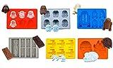 iNeibo Kitchen stampi in silicone, Star wars stampi per cubetti di ghiaccio/biscotti/tortini/cioccolato/dolci/gelatine/saponette ecc, in 6 forme diverse, Set con Darth Vader, Storm Trooper, Millenium Falcon, Wing Fighter, Han Solo Carbiner e R2-D2, 100% silicone alimentare privo di BPA e approvato dalla FDA