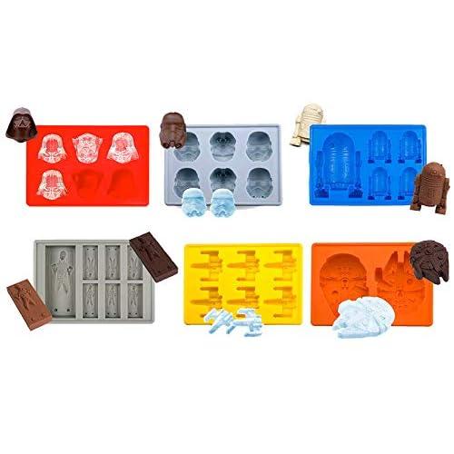 Joyoldelf - Moldes silicona, moldes star wars, moldes para bizcocho, hielo, chocolate, 100% silicona alimentaria, libre… 4