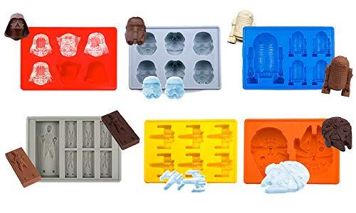 Joyoldelf - Moldes silicona, moldes star wars, moldes para bizcocho, hielo, chocolate, 100% silicona alimentaria, libre de BPA