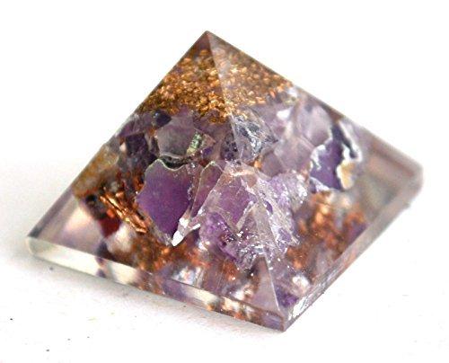 Amethyst Energetische Pyramide Beste Qualität Edelstein Heilstein Strahlung Ablenkung, die Metaphysische Stein Figur (Amethyst 25–30mm)