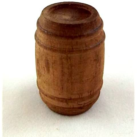 Barril de Cerveza en Miniatura para Casa de Muñecas Escala 1:12 Accesorio de Madera