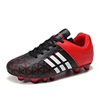 WOJIAO Fashion Men and Kids Soccer Boots Outdoor Sports Long Spikes Professional Soccer Shoes Mens Football Shoes Sneakers