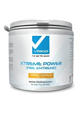 Xtreme Power Pre-Workout Powder 450gr Vitaloid - Pre-workout power, nitric oxide with tasty watermelon flavor super energy drink - Pre-workout energy, power and pump amplifier - 90 Servings by Vitaloid