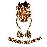 Diadema - jirafa - cola - pajarita - animales - disfraz - disfraces de mujer para niños - halloween - carnaval - cosplay - accesorios - idea de regalo original - jirafa papillon cosplay
