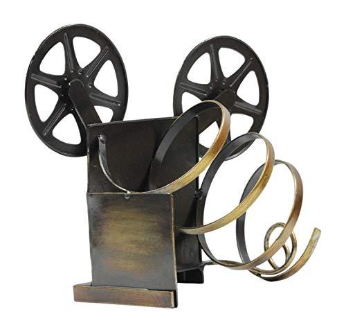Made Easy Kit Weinregal Flaschenhalter Skulptur - Premium Einrichtung Home Statute Metall Tischdekoration Vintage Tape Deck Player