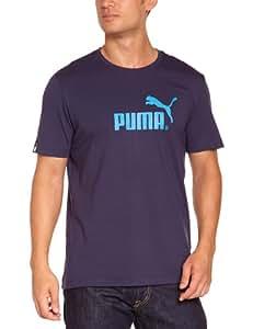 PUMA Men's T-Shirt Large No.1 Logo blue peacoat Size:S