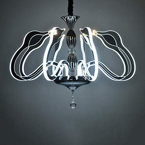 Acht Arm Kronleuchter (Modern Elegant Kronleuchter LED Kristall Deckenleuchte Schwan Design Lampe Arm Glühend Pendelleuchte zum Esszimmer Bad Schlafzimmer Wohnzimmer (Farbe : Weißes Licht-8 Light))