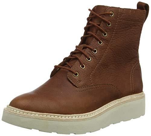 Clarks Damen Trace Pine Schlupfstiefel, Braun Chestnut Leather, 41 EU -