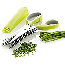Forbici Da Cucina 5 Lame, Forbici Da Cucina In Acciaio Inossidabile Scissors Herb Con 5 Lame Include Messe Rab Di