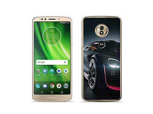 etuo Motorola Moto G6 Play - Hülle Foto Case - Schwarzes Auto - Handyhülle Schutzhülle Etui Case Cover Tasche für Handy