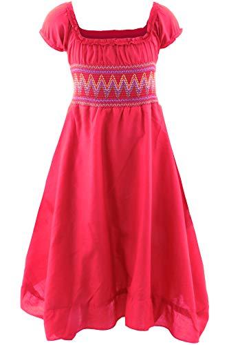 GILLSONZ Neu604-1PvDa Mädchen Kinder Sommer Freizeit Kleid (134/140, Rot) (Mädchen Kleider Für Rote)