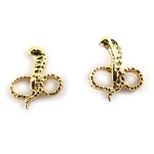 Les Trésors De Lily [B9813] - Ohrringe vergoldet 'Cobras' -