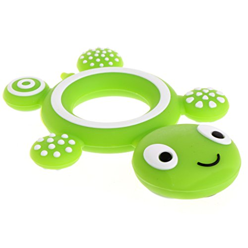 Dabixx Safety Tortoise Baby Kids Food Grade Silicone Soother Teether Teething Pacifier Green 9cmx7cm/3.54