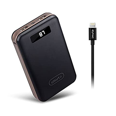 iMuto 20000mAh Batterie Externe et Apple MFI Câble Lightning (3.3ft),