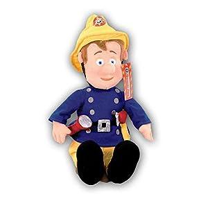 Sam El Bombero - Fireman Sam - Sam Felpa Altura 43 cmUn amigo para acurrucarse y abrazarse.En la parte posterior, que se incorpora un pequeño cojín granularpara calmar a su hijo a dormir.Dimensiones: H 43 cmMaterial: 100% PolyesterAdvertencias ...