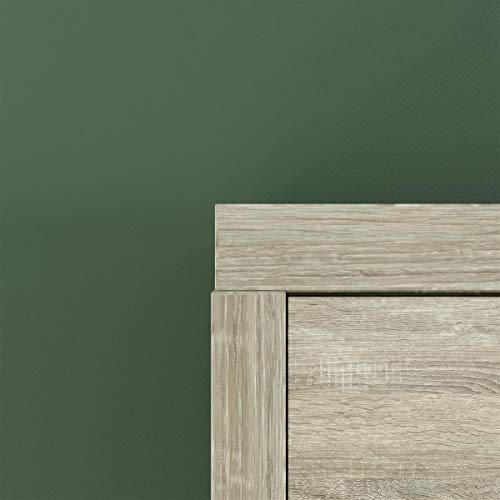 Schrankbett 160 x200 Vertikal Eiche Sonoma mit Gasdruckfedern, ideal als Gästebett – Wandbett, Schrank mit integriertem Klappbett, Schrankklappbett & Wandbett, SMARTBett - 4