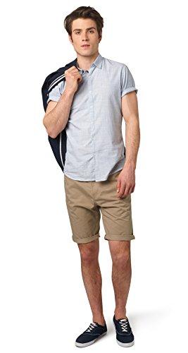 TOM TAILOR Denim Herren solid Twill Chino Bermuda Shorts, (Quarry Beige 8611), 54 (Herstellergröße: XXL) -