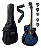 #3: Xtag Beginner Acoustic Guitar With Padded Guitar Case/Guitar Belt/Plectrums.