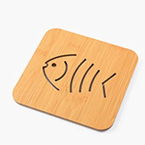 9 Stück Holz Cartoon Untersetzer Nette Isolation Pad Tisch Mat Kleiner Fisch -