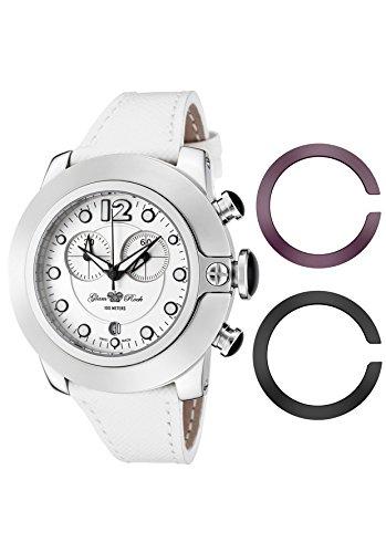 Glam Rock donna Sobe Mood cronografo bianco quadrante bianco in pelle saffiano